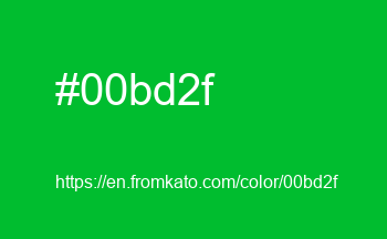 Color: #00bd2f