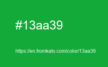 Color: #13aa39