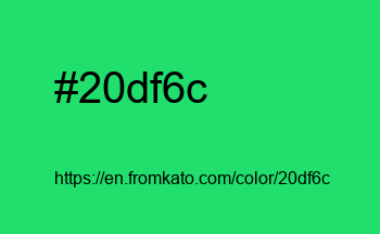 Color: #20df6c