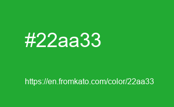 Color: #22aa33
