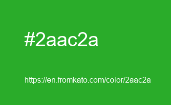 Color: #2aac2a