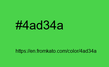 Color: #4ad34a