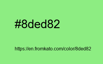 Color: #8ded82