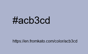Color: #acb3cd