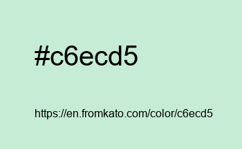 Color: #c6ecd5