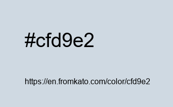Color: #cfd9e2