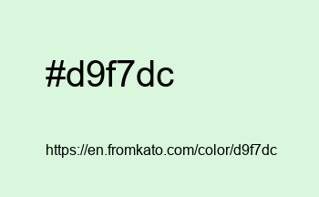 Color: #d9f7dc
