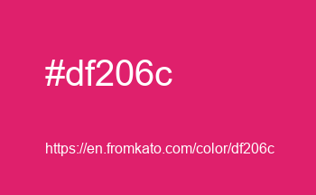 Color: #df206c