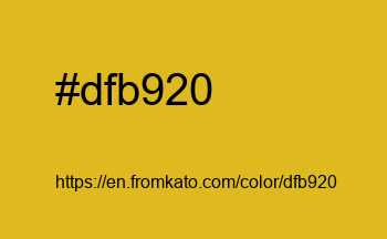 Color: #dfb920
