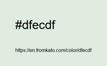 Color: #dfecdf