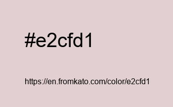 Color: #e2cfd1