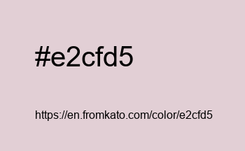 Color: #e2cfd5