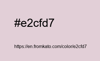 Color: #e2cfd7